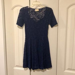 Urban Outfitters navy lace dress